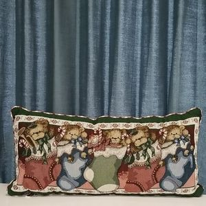 Other - Christmas teddy bear tapestry pillow